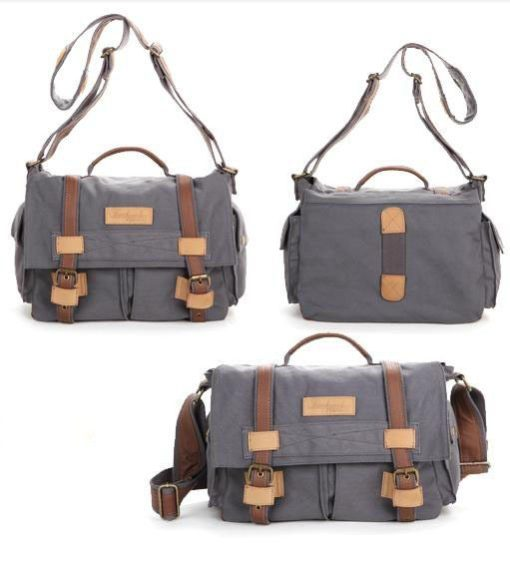 Women hand bag Messenger bag gray Charlie by Camera Chick